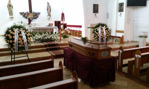 trumna w kaplicy